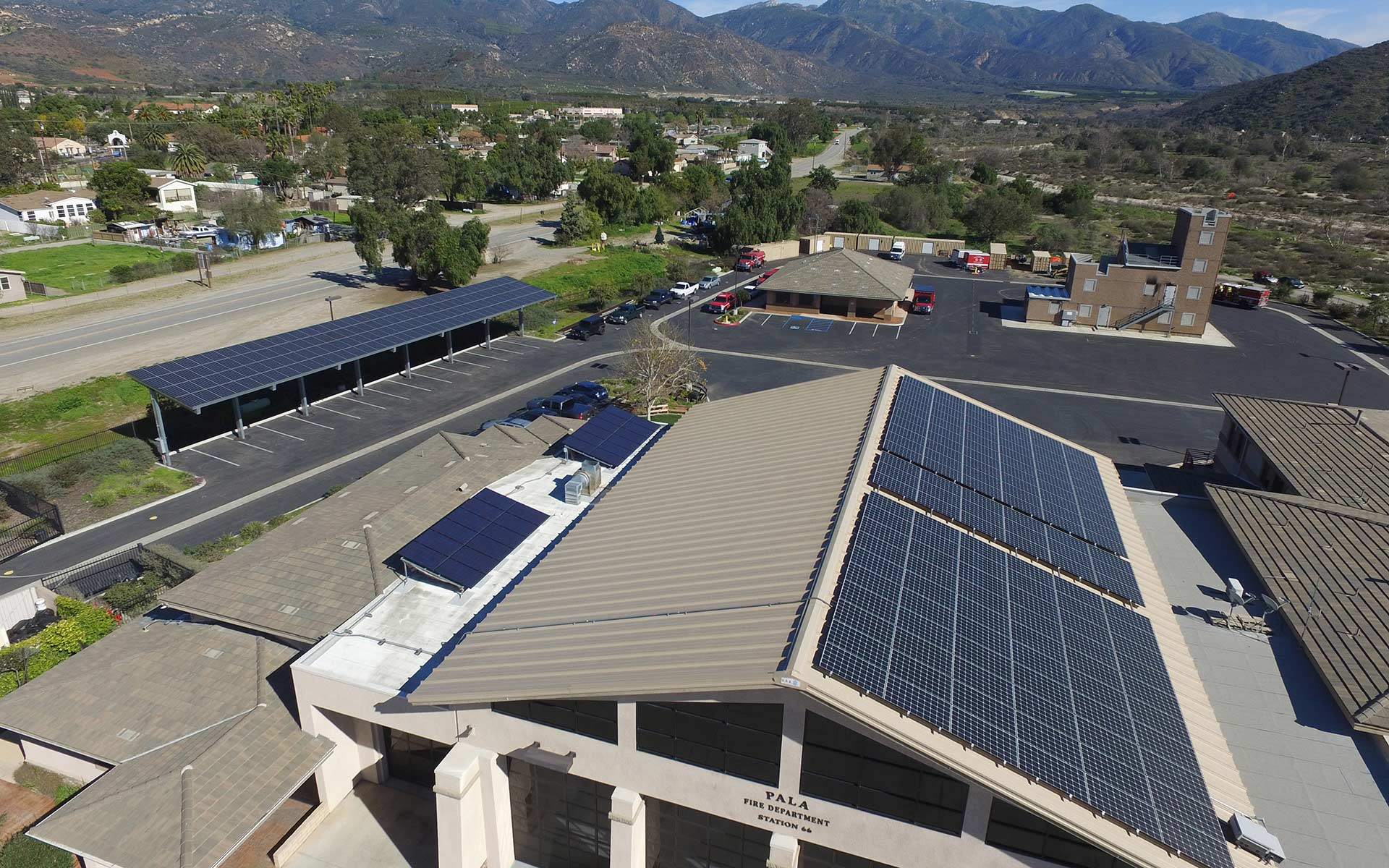 Pala Tribal Fire Station San Diego solar installation. Copyright 2017 Good Energy Solar, all rights reserved.
